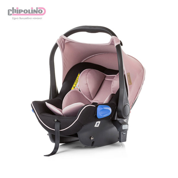 Chipolino - Столче кошница за кола с адаптори Ейнджъл (0-13кг) розово