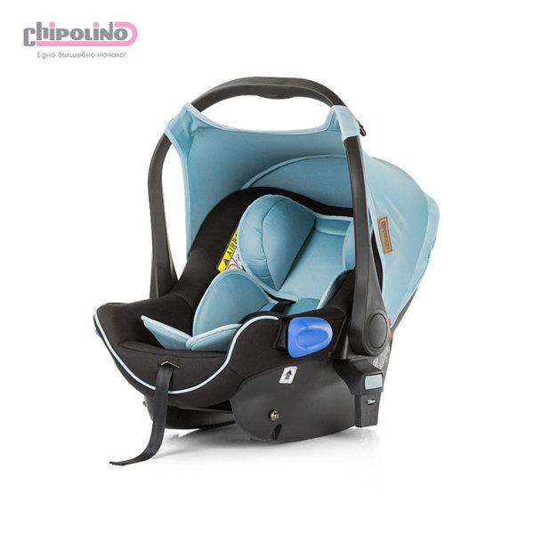 Chipolino - Столче кошница за кола с адаптори Ейнджъл (0-13кг) синьо