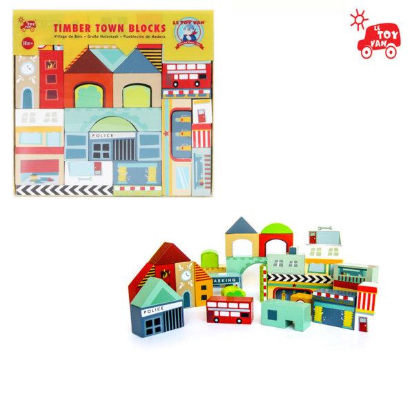 Le Toy Van - Дървени кубчета Град tv894