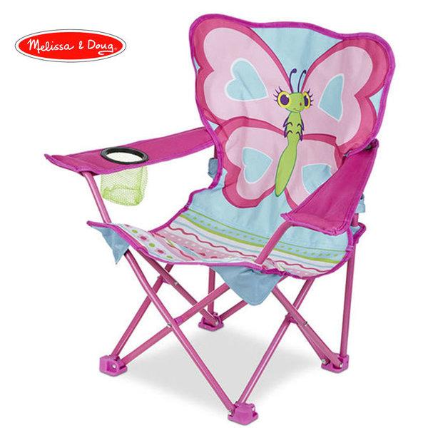 Melissa&Doug - Детско сгъваемо столче Пеперуда 16693