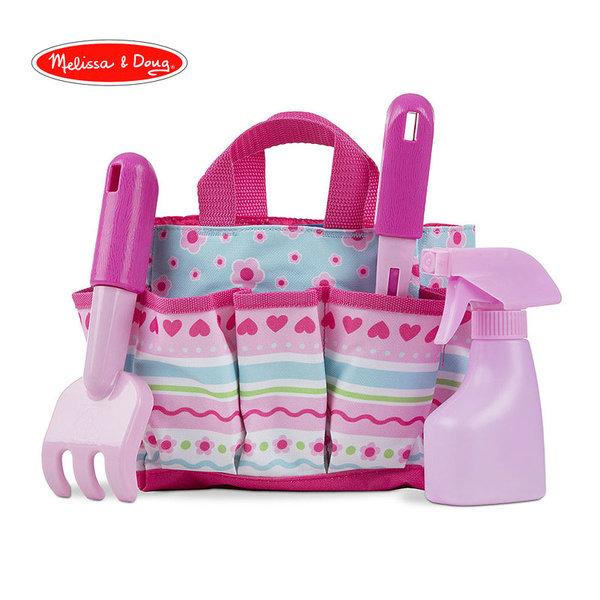 Melissa&Doug - Градинарски комплект в розова чанта 16702