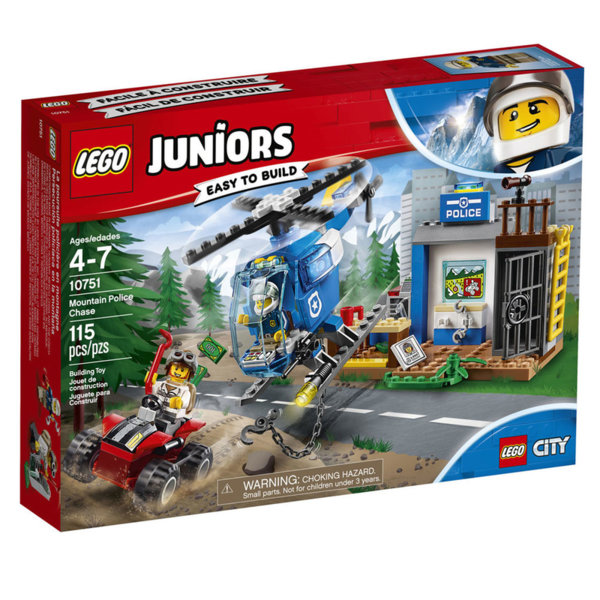 Lego 10751 Juniors City - Полицейско преследване в планината