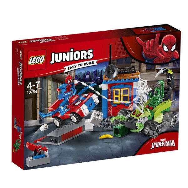 Lego 10754 Juniors Spiderman - Улична битка между Спайдърмен и Скорпион
