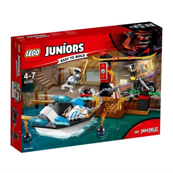 Lego 10755 Juniors Ninjago - Преследване с лодката на Зейн