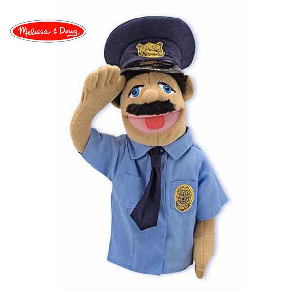 Melissa&Doug - Плюшена кукла за куклен театър Полицай 12551