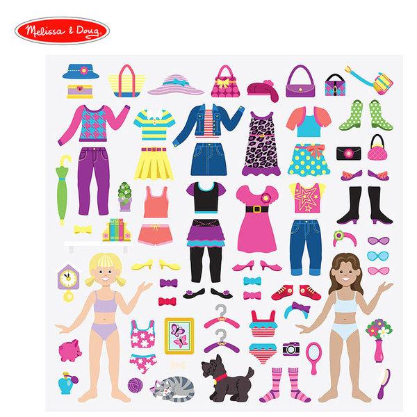 Melissa&Doug - Книжка със стикери Облечи куклите 12195