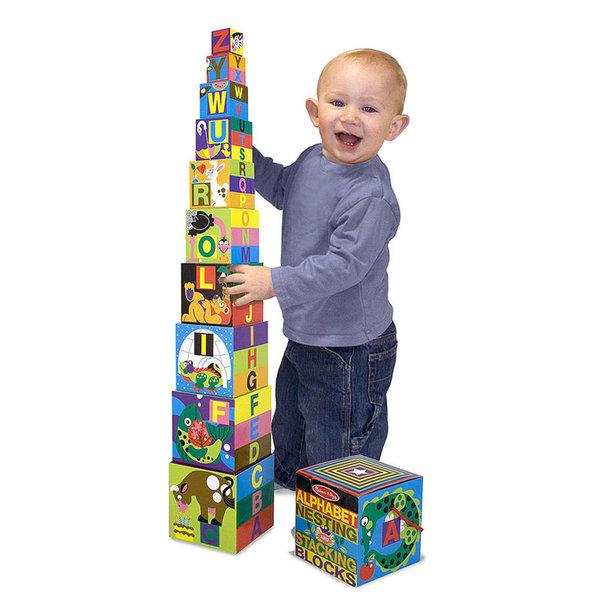 Melissa&Doug - Картонени кубчета с азбука и животни 12782