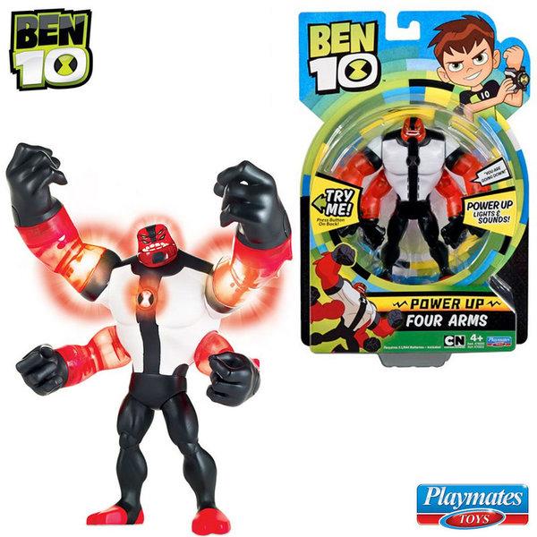 Ben 10 - Екшън светеща фигура Бен Тен Four Arms 76600