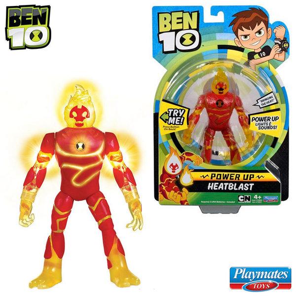 Ben 10 - Екшън светеща фигура Бен Тен Heatblast 76600