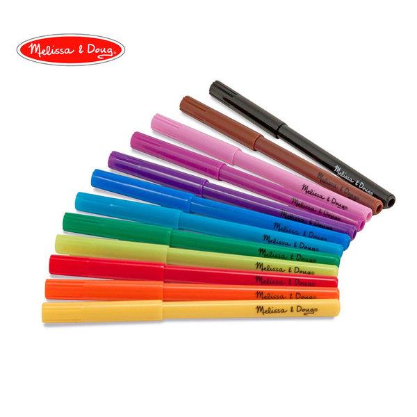 Melissa&Doug - Флумастери 12 цвята 14221
