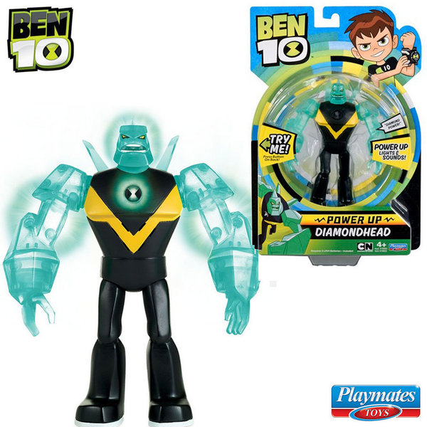 Ben 10 - Екшън светеща фигура Бен Тен Diamondhead 76600