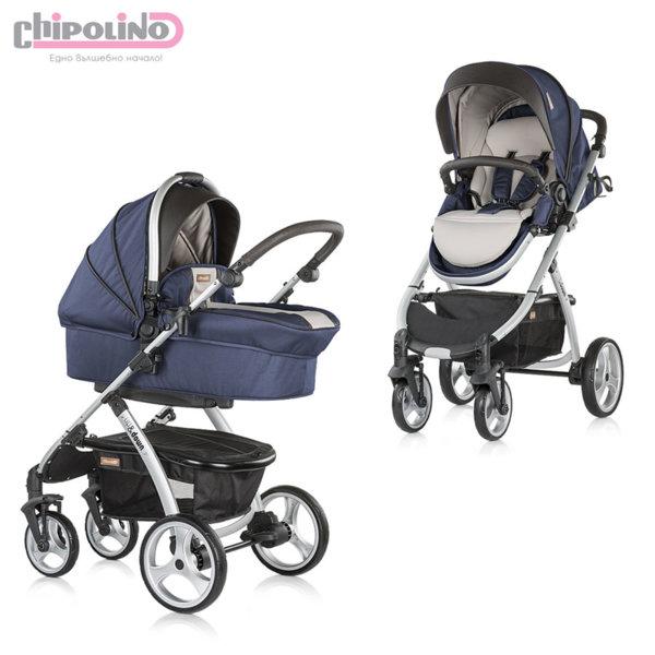 Chipolino - Бебешка количка Up&Down 2в1 синьо индиго