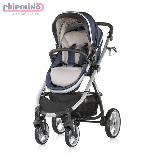 Chipolino - Бебешка количка Up&Down синьо индиго