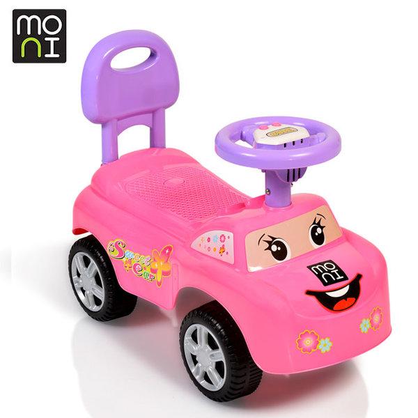Moni - Детска кола за бутане с крачета Keep riding 618a розова 106040