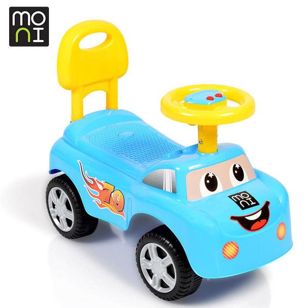Moni - Детска кола за бутане с крачета Keep riding 618a синя 106041