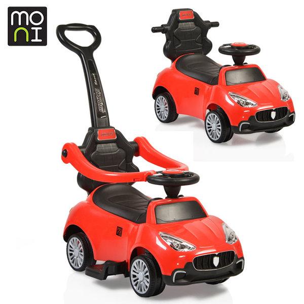 Moni - Детска кола за бутане с родителски контрол Horizon 2282 червена 106037