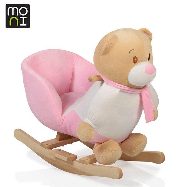 Moni - Музикална плюшена люлка Bear 1429 розова 106092