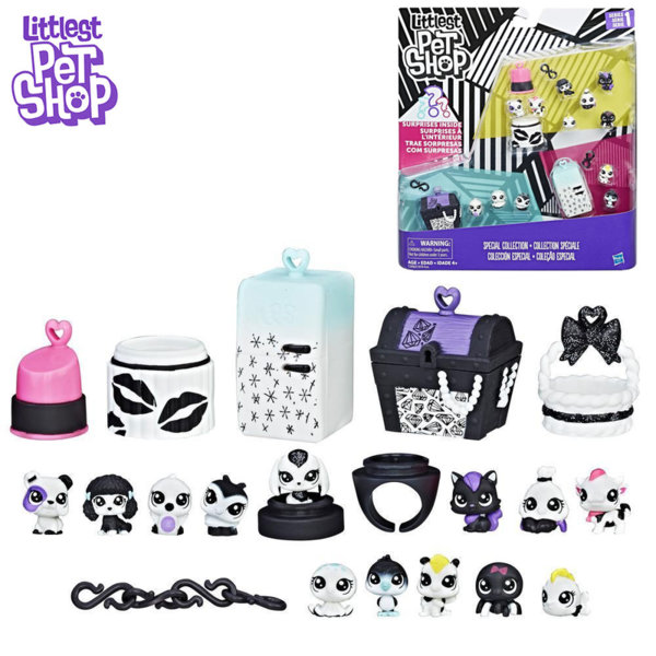 Littlest Pet Shop - Комплект малки домашни любимци Black & White c1878