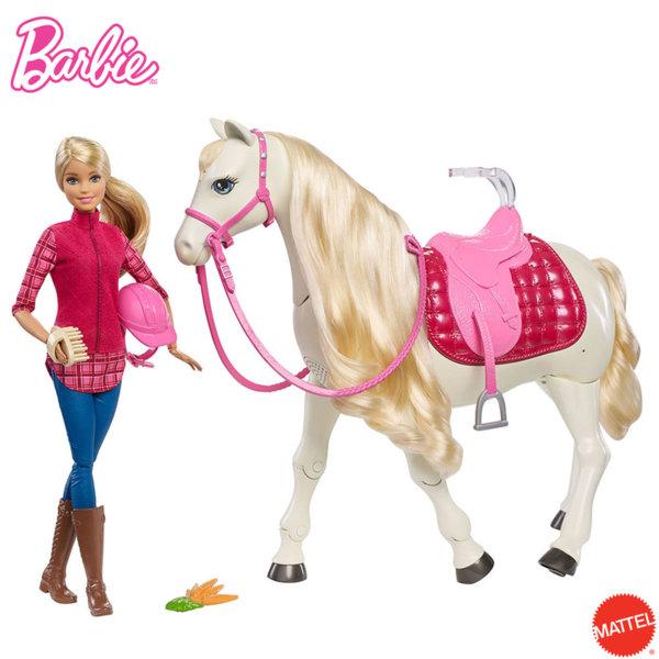 Barbie - Барби кукла с интерактивен кон FRV36
