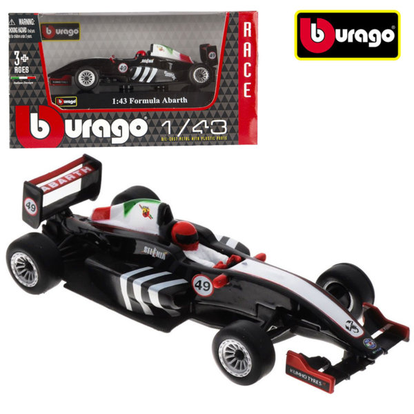Bburago - Кола 1:43 Formula Abarth 18-38010