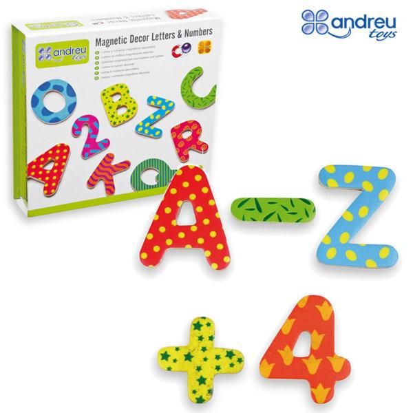 Andreu Toys - Магнитни букви и цифри за декорация 16058