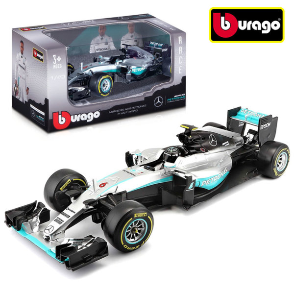 Bburago - Кола 1:43 Mercedes Petronas 2016 18-38126
