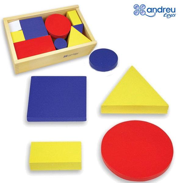 Andreu Toys - Дървени блокчета форми и цветове 16164