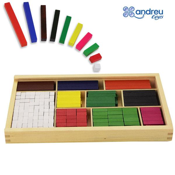 Andreu Toys - Дървени математически блокчета 16166