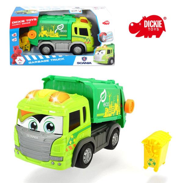 Simba Dickie - Детски боклукчийски камион Happy Scania 25см 203816001