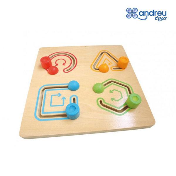 Andreu Toys - Детска дървена игра с геометрични фигури 16714