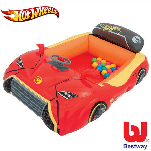 Bestway - Детска надуваема кола Hot Wheels 93404