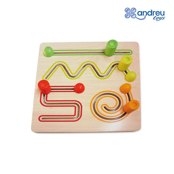Andreu Toys - Детска дървена игра с линии 16717