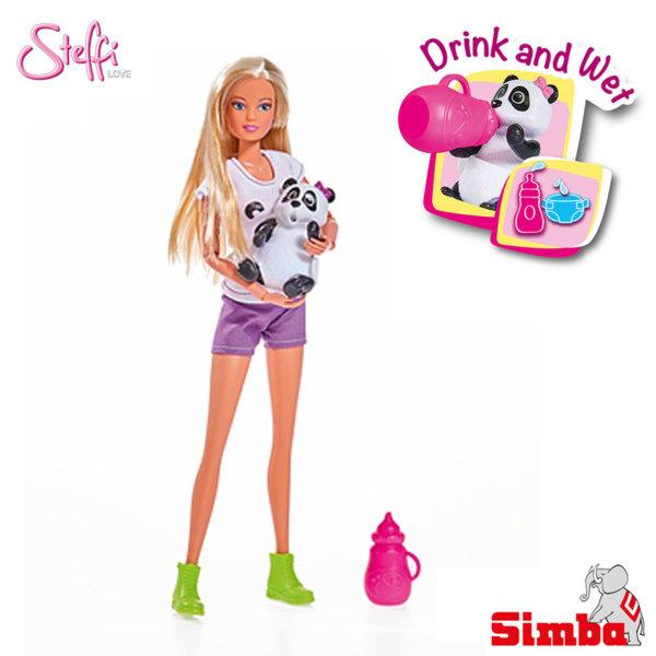 Simba - Кукла Стефи с бебе панда 105733048