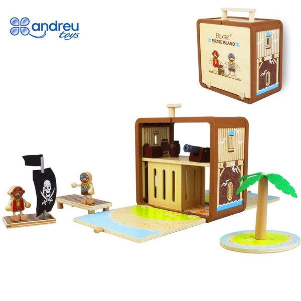 Andreu Toys - Пиратски остров в куфарче 15305