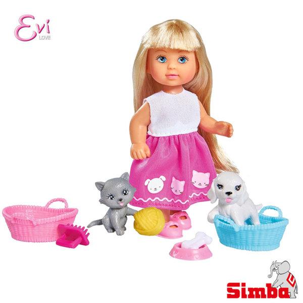 Simba - Кукла Еви с куче и коте 105733044