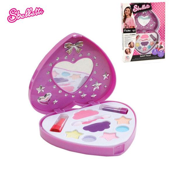 Sbelletti - Детски комплект гримове Сърце 37008