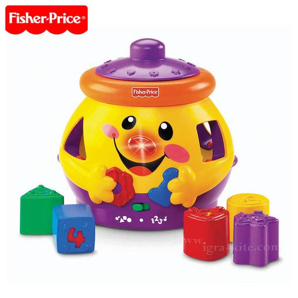 Fisher Price - Образователно гърне на български език с формички за сортиране dkk06