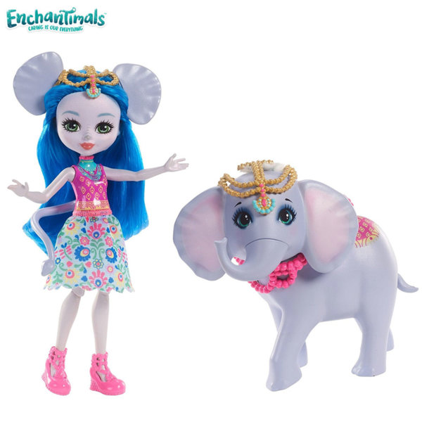 Enchantimals - Кукла с голямо животинче Ekaterina Elephant със слончето Antic FKY72