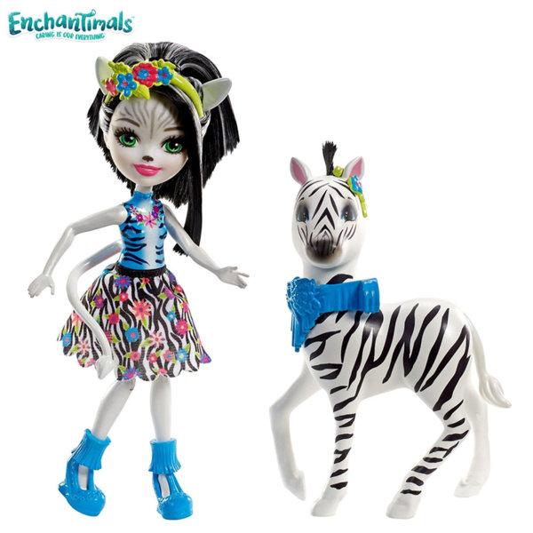 Enchantimals - Кукла с голямо животинче Zelena Zebra със зебрата Hoofette FKY72