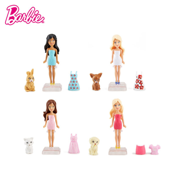 Barbie - Кукла Барби с втора рокля и домашен любимец dtw45