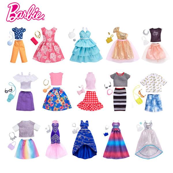 Barbie - Барби модни тоалети с аксесоари FND47