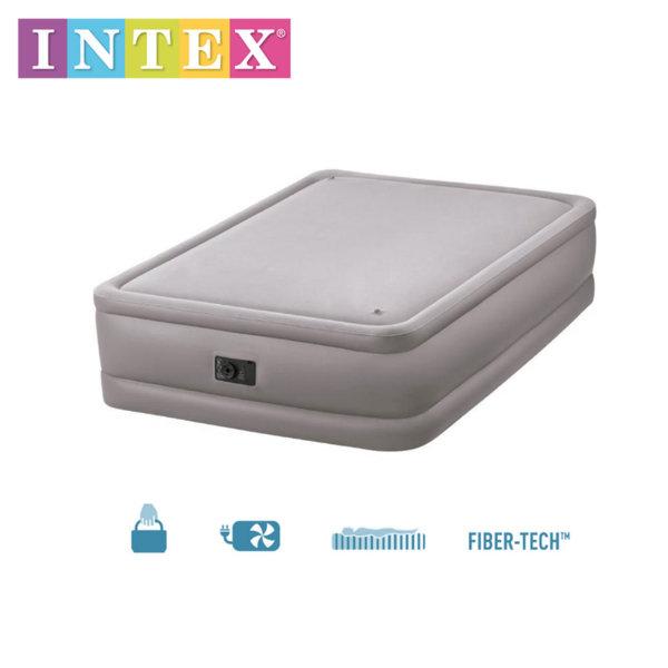 Intex – Надуваем матрак с вгадена помпа 152x203х51см 64470