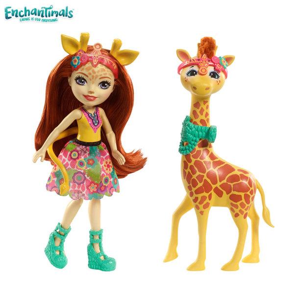 Enchantimals - Кукла с голямо животинче Gillian Giraffe с жирафчето Pawl FKY72