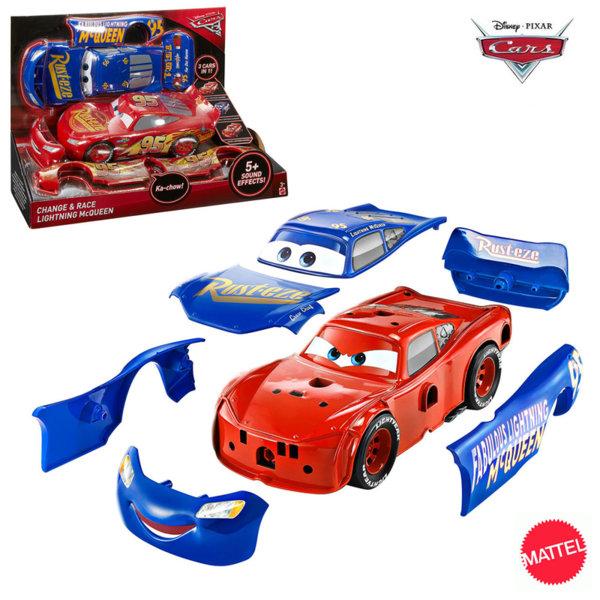 Mattel - Disney Cars Кола Карс МакКуин Светкавицата със сменящи се части 3в1 fcv95
