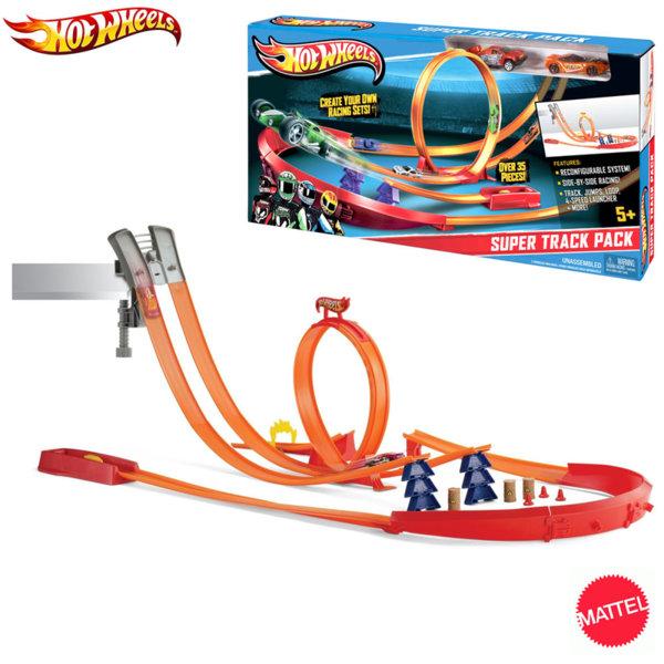 Hot Wheels - Двойна писта с лупинг и две колички Y0276