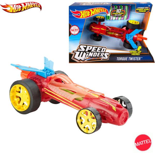 Hot Wheels - Състезателна количка STEAM Speed Winders Torque Twister Red DPB63