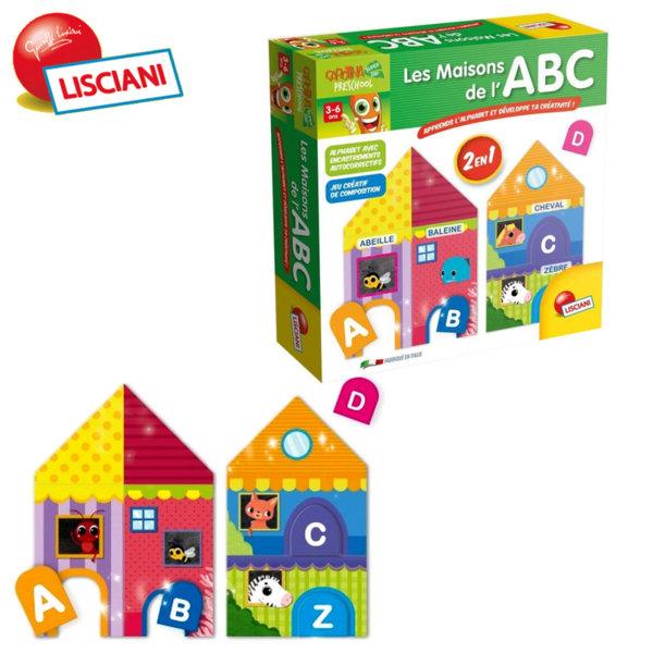 Lisciani Giochi - Детска образователна игра Къщички 2в1 50086