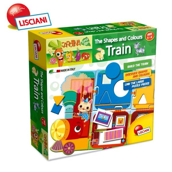 Lisciani Giochi - Детски пъзел с цветове и форми Влакче 44542