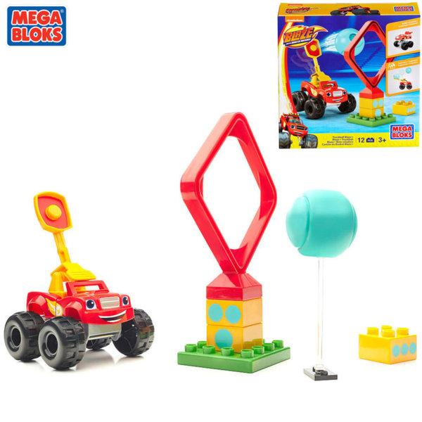 Mega Bloks Blaze and the Monster - Строител с количка Truckball Blaze DPH73