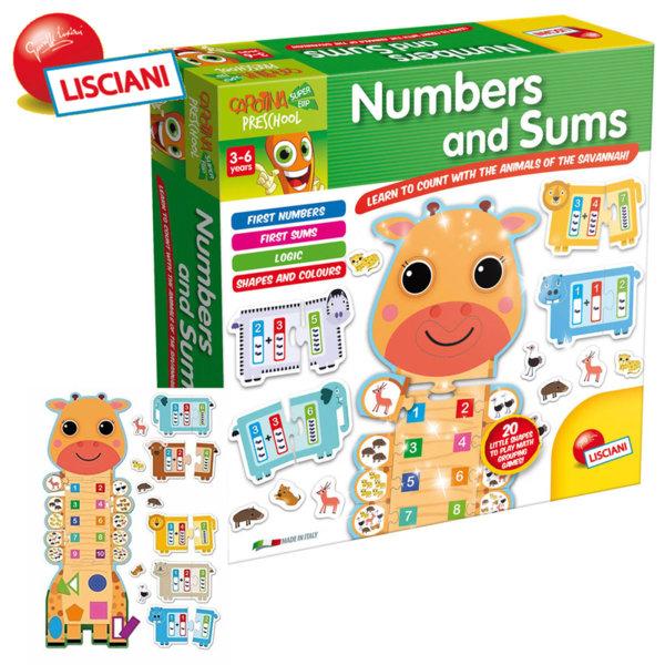 Lisciani Giochi - Детска образователна игра Цифри 50079